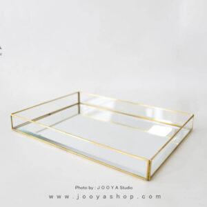 سینی شیشهای کف آینهای