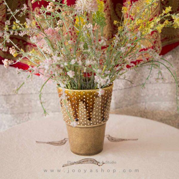گلدان سفالی مدل درنا