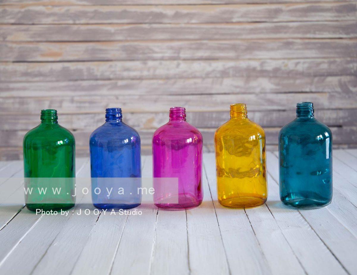 پک 5 عددی بطری شیشهای ملون