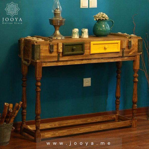 میز کنسول چوبی یکتا