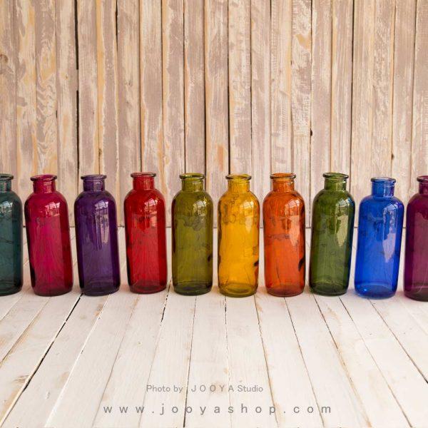 بطری شیشهای آبرنگ در ۱۰ رنگ