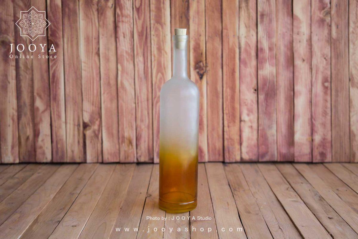 بطری شیشه ای بلند رنگی