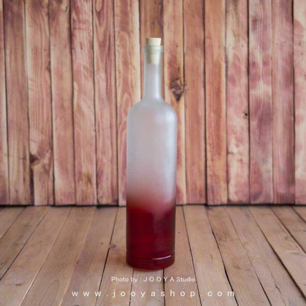 بطری شیشه ای اسکاتلندی با رنگ قرمز