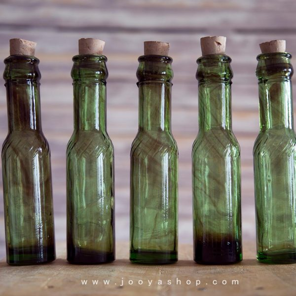 پک 5 عددی بطری شیشهای پیچک در ۲ رنگ