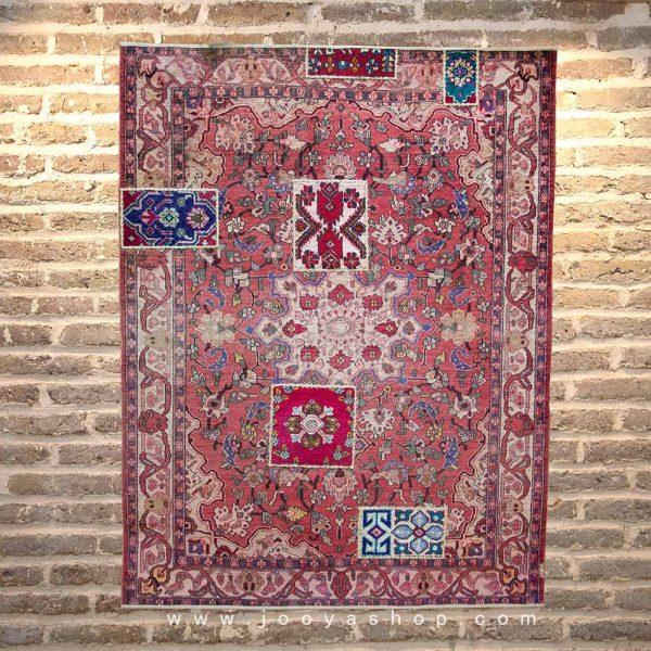 قالیچه تکهدوزی گلشن