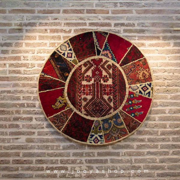 قالیچه تکهدوزی ترنج ترکمن