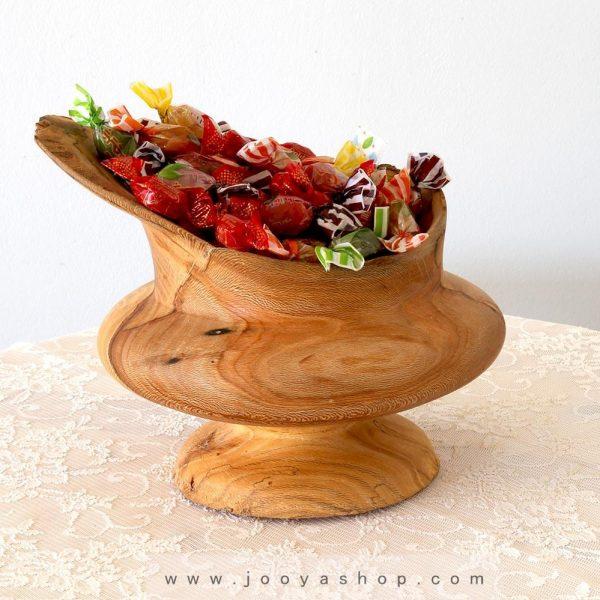 کاسه چوبی دستساز مدل هیلا