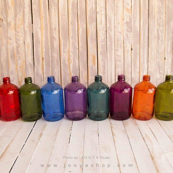 بطری شیشهای ملون در ۱۰ رنگ