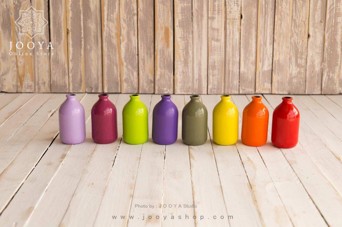 بطری شیشه ای رنگی مات