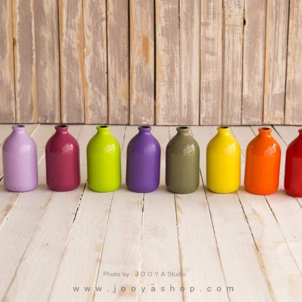 رنگ کردن بطری شیشهای