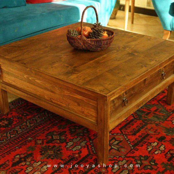 میز وسط چوبی