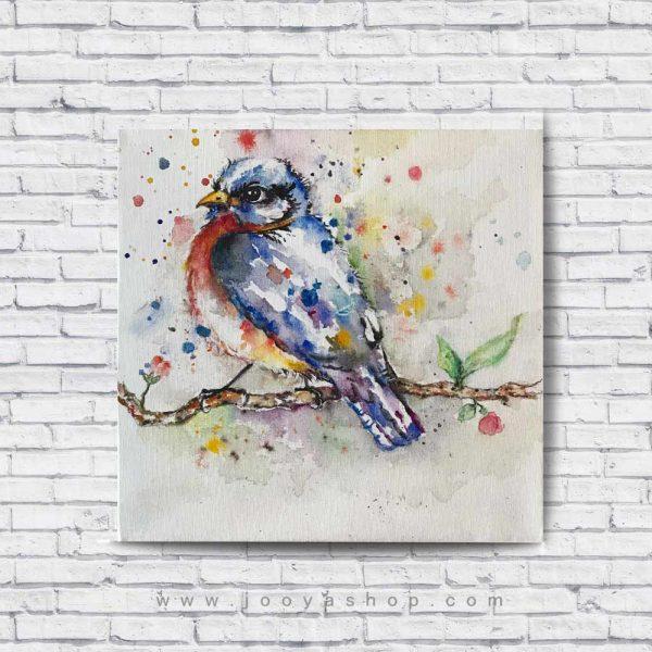 تابلو نقاشی پرنده