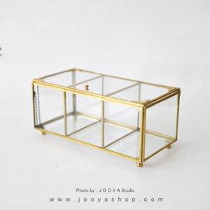 جعبه پذیرایی شیشهای یاقوت