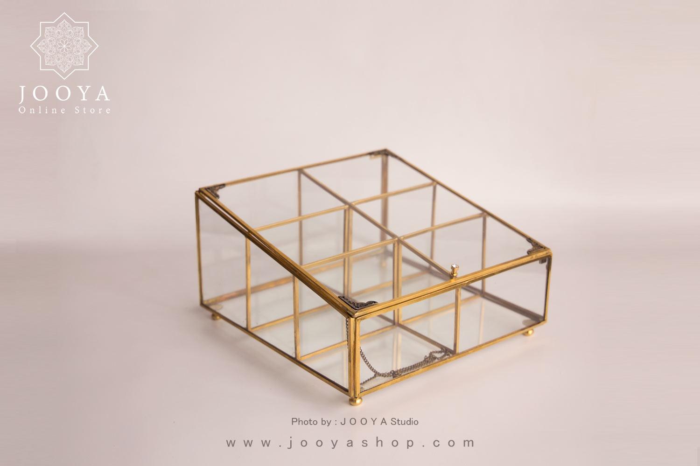 جعبه پذیرایی شیشهای شمس