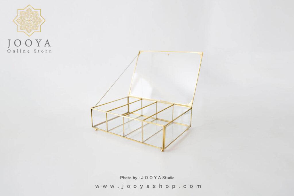 جعبه پذیرایی شیشهای مرمر
