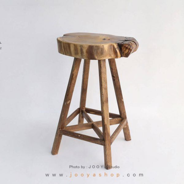 چهارپایه چوبی الوان