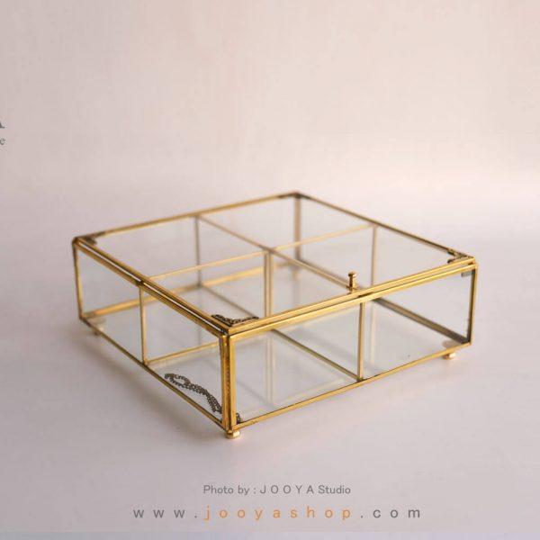 جعبه پذیرایی شیشهای گوهر