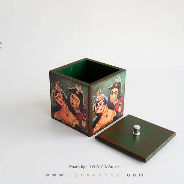 باکس چوبی دربدار طرح قاجار