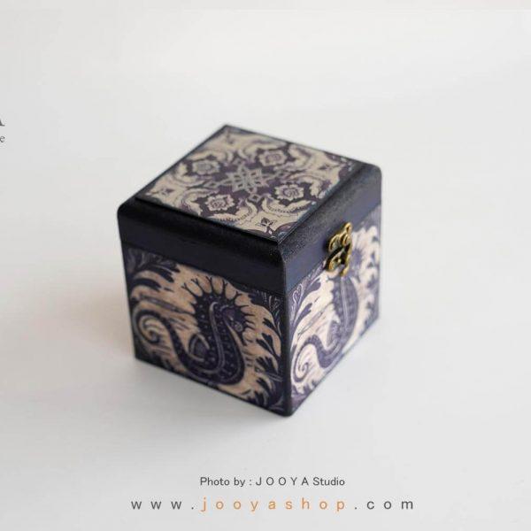 جعبه کوچک چوبی طرح فیروزه