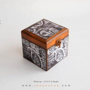 جعبه کوچک چوبی طرح نَسخ