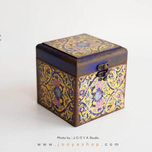 جعبه کوچک چوبی طرح حوضنقاشی