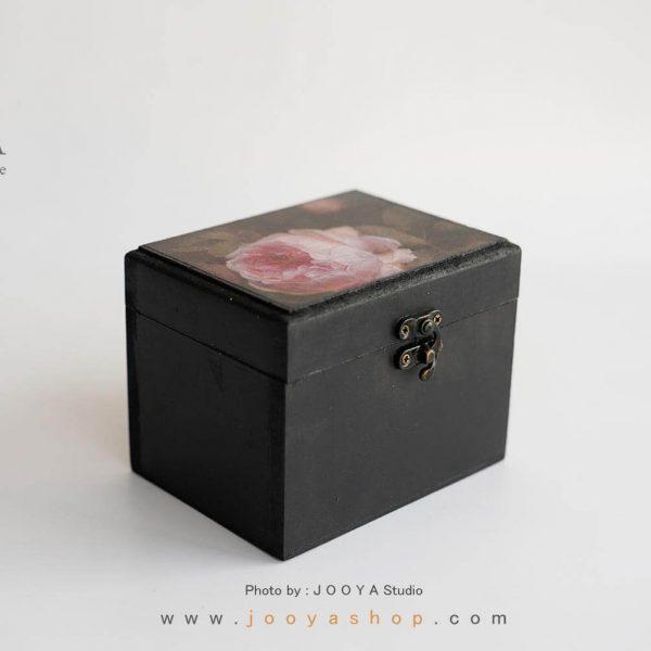 جعبه چوبی کوچک طرح گُل رُز