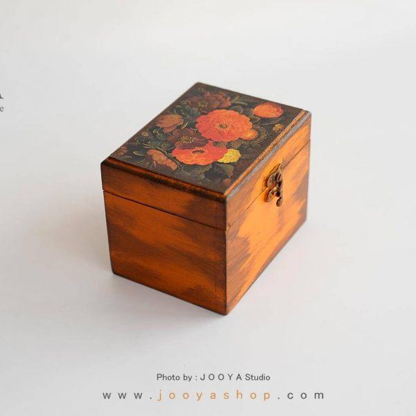 جعبه چوبی کوچک طرح باغچه گُل