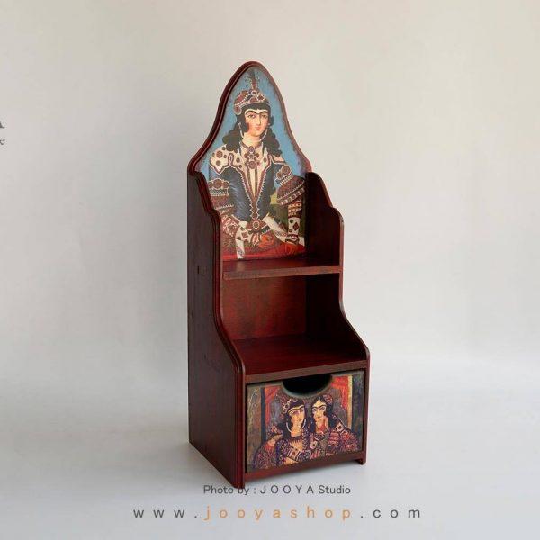 شلف رومیزی کشودار طرح سلطان