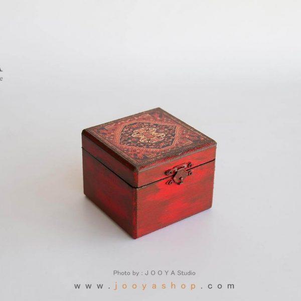 جعبه کوچک چوبی طرح فرش