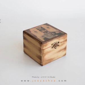 جعبه کوچک چوبی طرح پادشاه