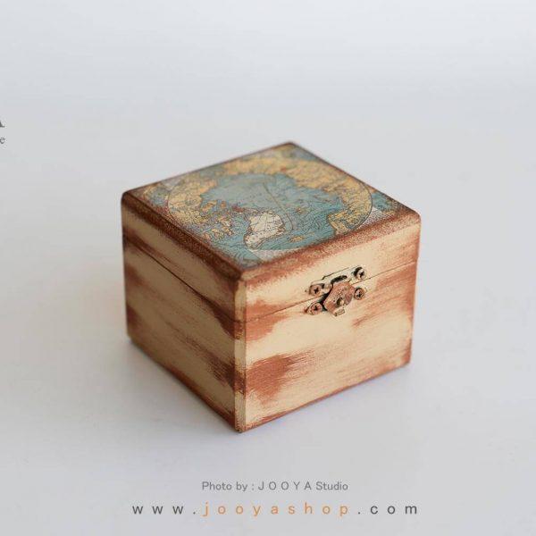 جعبه کوچک چوبی طرح نَقشهجَهان