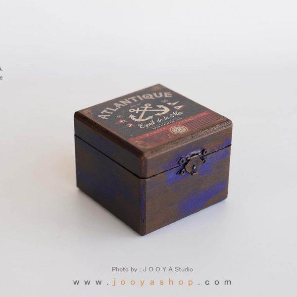 جعبه کوچک چوبی طرح ناخدا