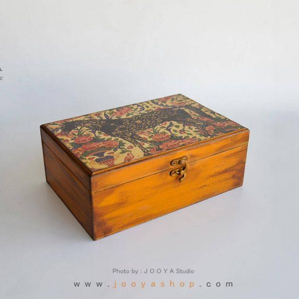 جعبه چوبی ۴ قسمتی طرح بهشت