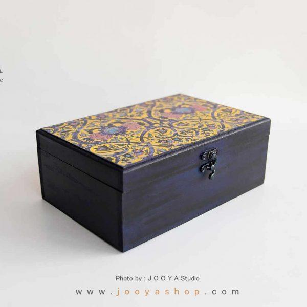 جعبه چوبی ۴ قسمتی طرح حوضنقاشی