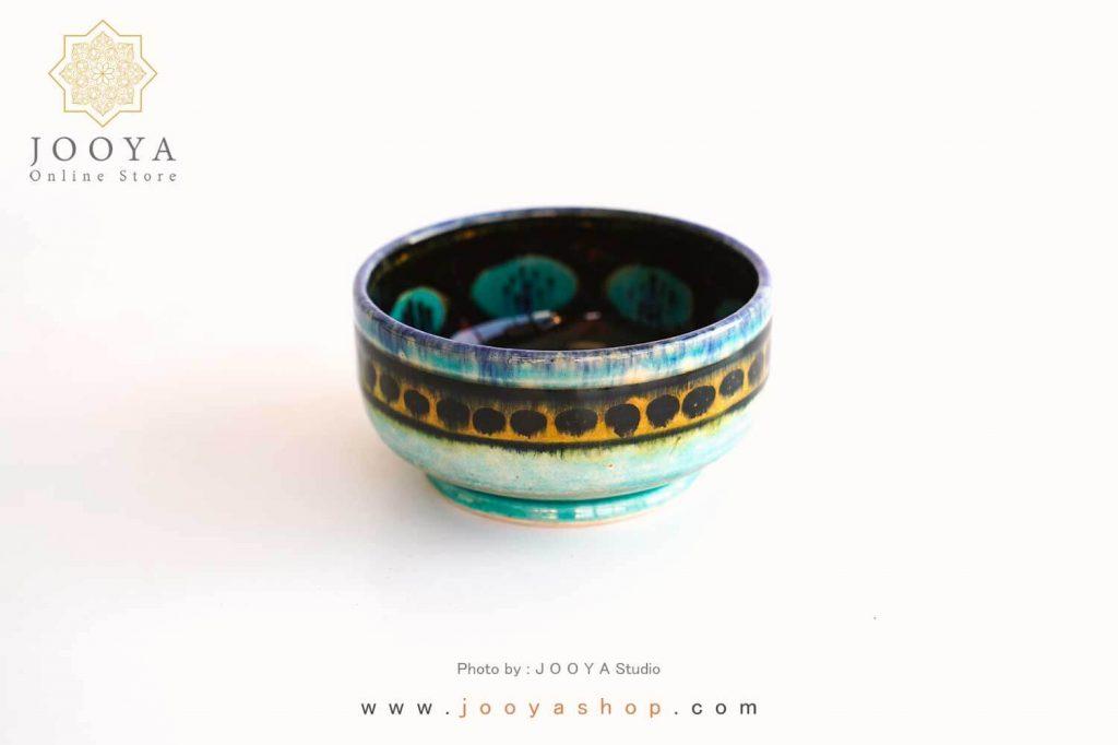 کاسه نقاشی طرح ناژو ترکیبی از آثار قدیم ایران