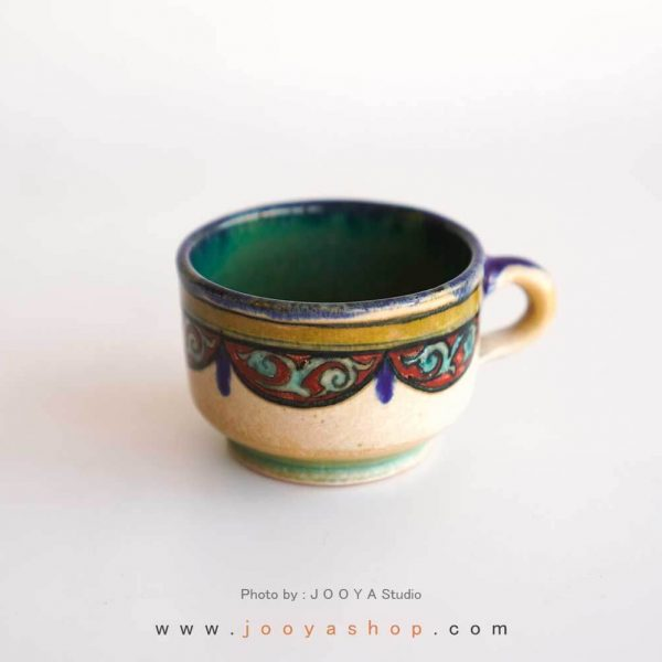 فنجان نقاشی طرح ناژو متاثر از آثار قدیمی
