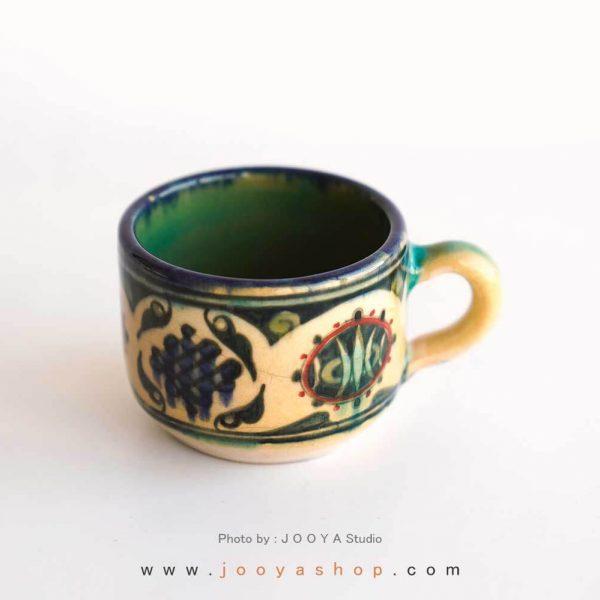 فنجان سفالی متاثر از آثار قرن ۳ نیشابور