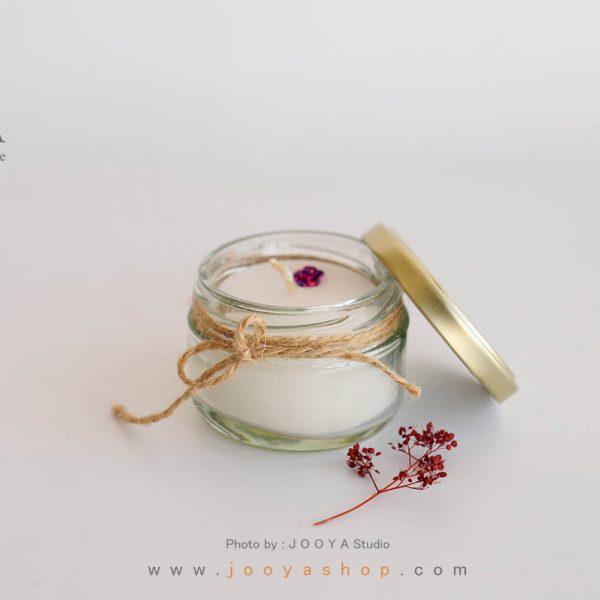 شمع شیشهای کوچک سفید