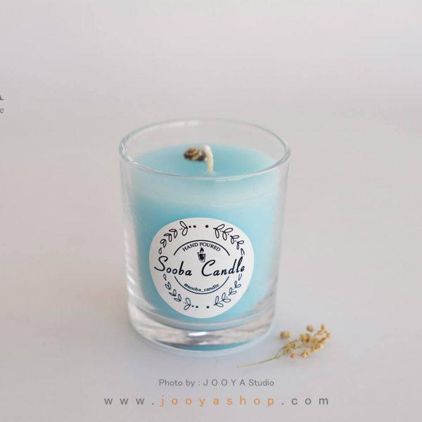 شمع لیوانی معطر آبی