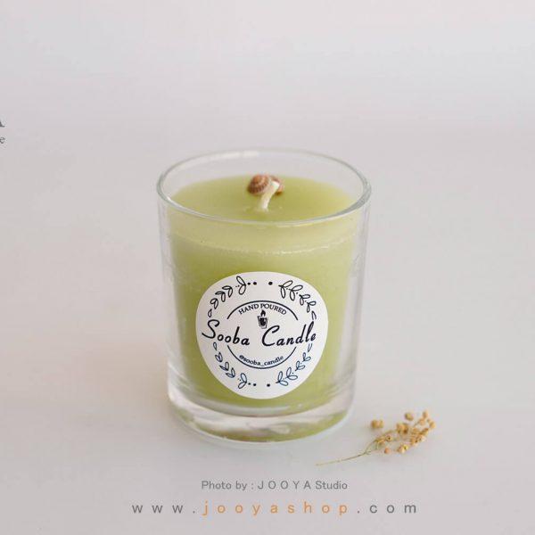 شمع لیوانی معطر سبز