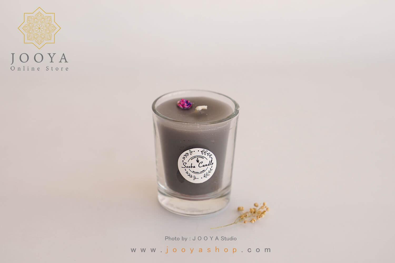 شمع لیوانی طوسی