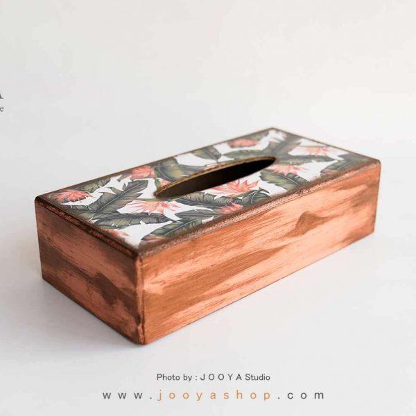 جعبه دستمال کاغذی چوبی طرح بهار