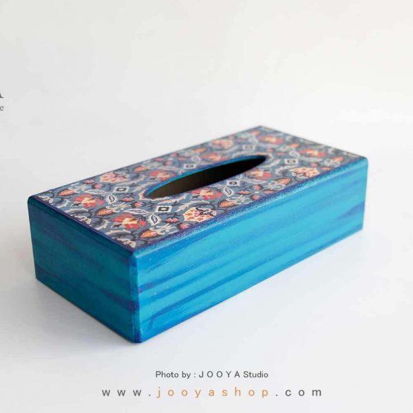 جعبه دستمال کاغذی چوبی طرح زمستان