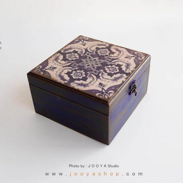 جعبه چوبی طرح فیروزه سایز متوسط