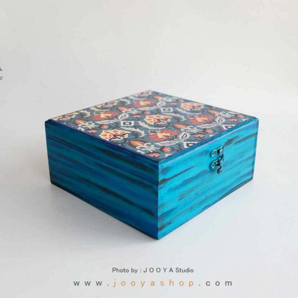 جعبه چوبی طرح اطلسی سایز بزرگ