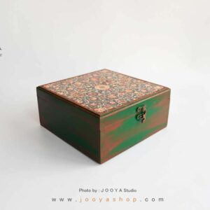جعبه چوبی طرح فرش سایز بزرگ