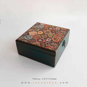 جعبه چوبی طرح گَبِه سایز بزرگ