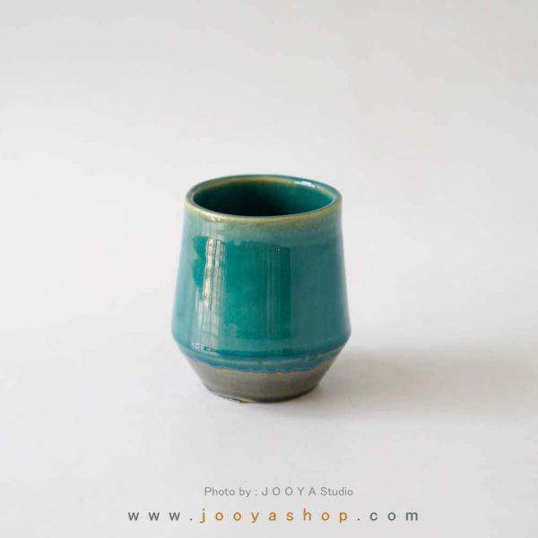 لیوان دستساز فیروزهای