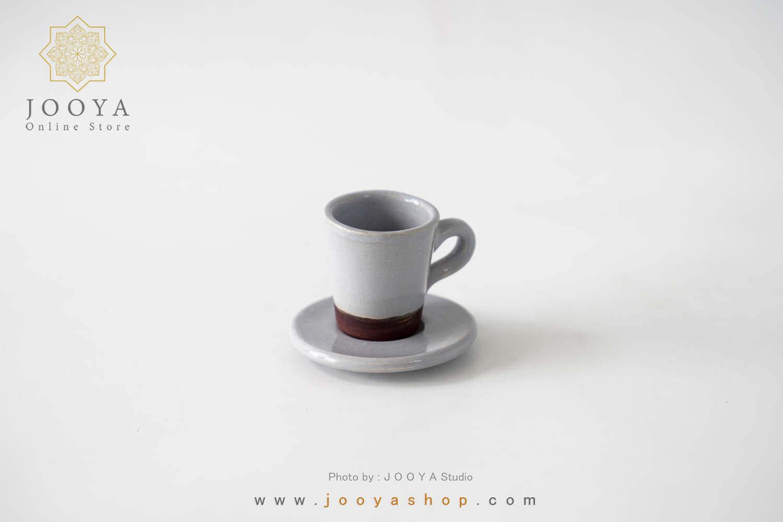 فنجان قهوه خوری طوسی