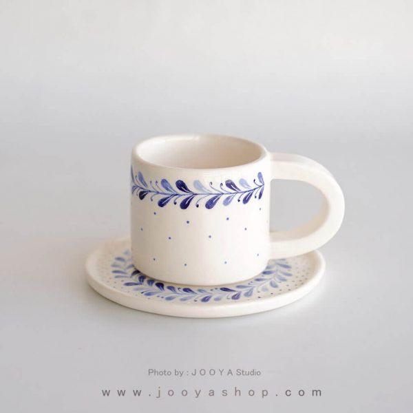 فنجان و نعلبکی طرح زیتون